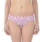 soft Pink Damask Pattern Hipster Bikini Bottoms