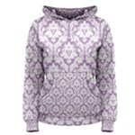 Lilac Damask Pattern Women s Pullover Hoodie