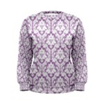 Lilac Damask Pattern Women s Sweatshirt