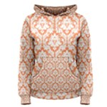 Nectarine Orange Damask Pattern Women s Pullover Hoodie