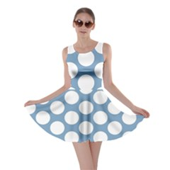 Blue Polkadot Skater Dress by Zandiepants