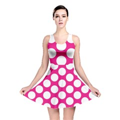 Pink Polkadot Reversible Skater Dress by Zandiepants