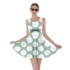 Jade Green Polkadot Skater Dress by Zandiepants
