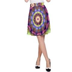 Rainbow Glass A Line Skirt by Zandiepants
