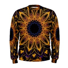 Yellow Purple Lotus Mandala Men s Sweatshirt by Zandiepants