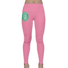Cheerleader At Starbucks Yoga Leggings  by GalaxySpirit