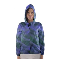 Purple Fog Hooded Wind Breaker (women) by timelessartoncanvas