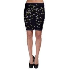 Little White And Green Dots Bodycon Skirts by timelessartoncanvas