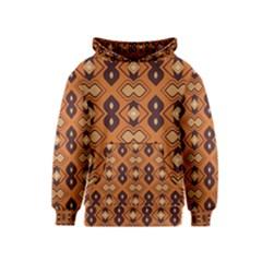 Brown Leaves Pattern Kid s Pullover Hoodie by LalyLauraFLM