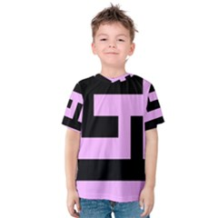 Black And Pink Kid s Cotton Tee by timelessartoncanvas