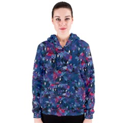 Abstract Floral #3 Women s Zipper Hoodie by Uniqued