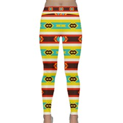 Rhombus Stripes And Other Shapes Yoga Leggings by LalyLauraFLM