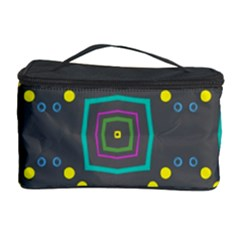 Squares And Circles Pattern Cosmetic Storage Case by LalyLauraFLM