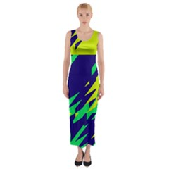 3 Colors Shapes    Fitted Maxi Dress by LalyLauraFLM