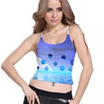 Moonlight Wonder, Abstract Journey To The Unknown Spaghetti Strap Bra Top