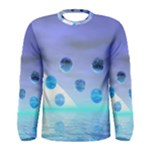 Moonlight Wonder, Abstract Journey To The Unknown Men s Long Sleeve Tee