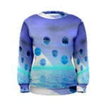 Moonlight Wonder, Abstract Journey To The Unknown Women s Sweatshirt