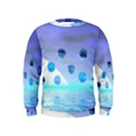 Moonlight Wonder, Abstract Journey To The Unknown Kids  Sweatshirt