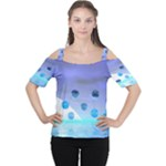Moonlight Wonder, Abstract Journey To The Unknown Women s Cutout Shoulder Tee