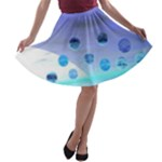 Moonlight Wonder, Abstract Journey To The Unknown A-line Skater Skirt