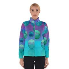 Ocean Dreams, Abstract Aqua Violet Ocean Fantasy Winterwear by DianeClancy