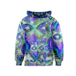 Abstract Peacock Celebration, Golden Violet Teal Kids  Pullover Hoodie