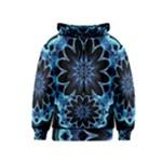 Crystal Star, Abstract Glowing Blue Mandala Kids  Zipper Hoodie