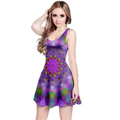 Rainbow At Dusk, Abstract Star Of Light Reversible Sleeveless Dress by DianeClancy