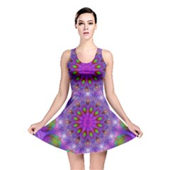Rainbow At Dusk, Abstract Star Of Light Reversible Skater Dress by DianeClancy