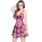 Twirling Pink, Abstract Candy Lace Jewels Mandala  Reversible Sleeveless Dress