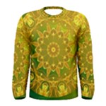 Yellow Green Abstract Wheel Of Fire Men s Long Sleeve Tee