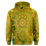 Yellow Green Abstract Wheel Of Fire Men s Pullover Hoodie