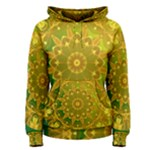 Yellow Green Abstract Wheel Of Fire Women s Pullover Hoodie