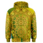 Yellow Green Abstract Wheel Of Fire Men s Zipper Hoodie