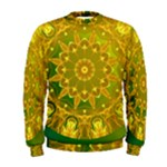 Yellow Green Abstract Wheel Of Fire Men s Sweatshirt
