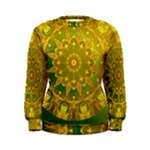Yellow Green Abstract Wheel Of Fire Women s Sweatshirt