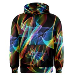 Aurora Ribbons, Abstract Rainbow Veils  Men s Pullover Hoodie by DianeClancy