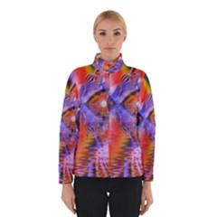 Crystal Star Dance, Abstract Purple Orange Winterwear by DianeClancy