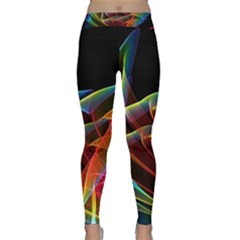 Dancing Northern Lights, Abstract Summer Sky  Yoga Leggings by DianeClancy