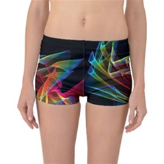 Dancing Northern Lights, Abstract Summer Sky  Reversible Boyleg Bikini Bottoms by DianeClancy