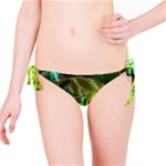 Dawn Of Time, Abstract Lime & Gold Emerge Bikini Bottom