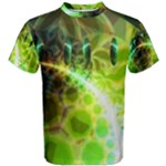 Dawn Of Time, Abstract Lime & Gold Emerge Men s Cotton Tee