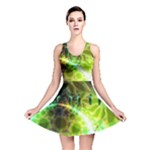 Dawn Of Time, Abstract Lime & Gold Emerge Reversible Skater Dress