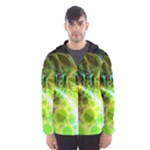Dawn Of Time, Abstract Lime & Gold Emerge Hooded Wind Breaker (Men)