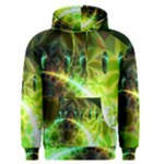 Dawn Of Time, Abstract Lime & Gold Emerge Men s Pullover Hoodie