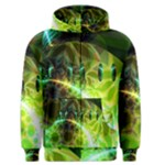 Dawn Of Time, Abstract Lime & Gold Emerge Men s Zipper Hoodie