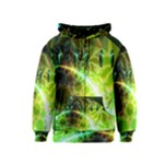 Dawn Of Time, Abstract Lime & Gold Emerge Kids  Zipper Hoodie