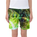 Dawn Of Time, Abstract Lime & Gold Emerge Women s Basketball Shorts