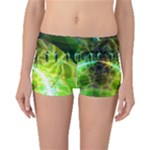 Dawn Of Time, Abstract Lime & Gold Emerge Boyleg Bikini Bottoms