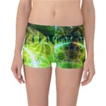 Dawn Of Time, Abstract Lime & Gold Emerge Reversible Boyleg Bikini Bottoms